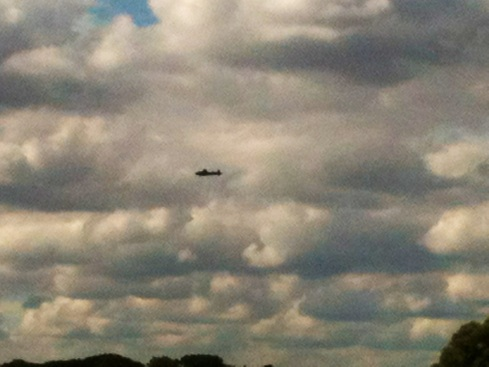 Lancaster Bomber - sadly the bouncing bomb missed Wassand Hall