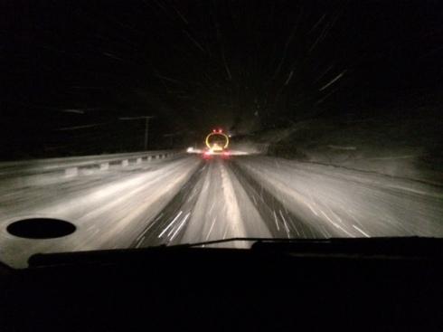 A snowy A9 en route to Loch Garten