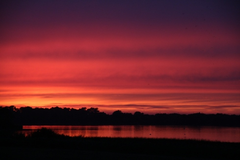 Sunset over Hornsea Mere - Rich Willison